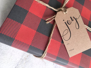Gift Wrap Favorite Story Buffalo Plaid Gift Wrap, Holiday Wrapping Paper