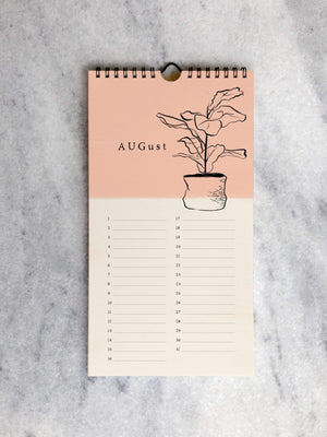 Perpetual/Birthday Calendar Favorite Story House Plants Celebration Calendar