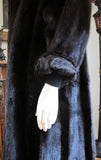 Dark Ranch Black Mink Fur Coat Jacket M/L No Monogram Unique Design - Purple Shoshana Furs