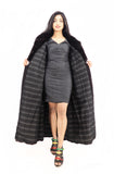 Dark Ranch Black Mink Fur Coat Jacket M/L No Monogram - Stylish - Purple Shoshana Furs