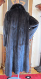 Dark Ranch Black Female Mink Coat Coats M/L - Purple Shoshana Furs