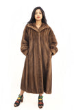 Pastel Autumn Haze Brown Mink Fur Coat Coats L - Purple Shoshana Furs