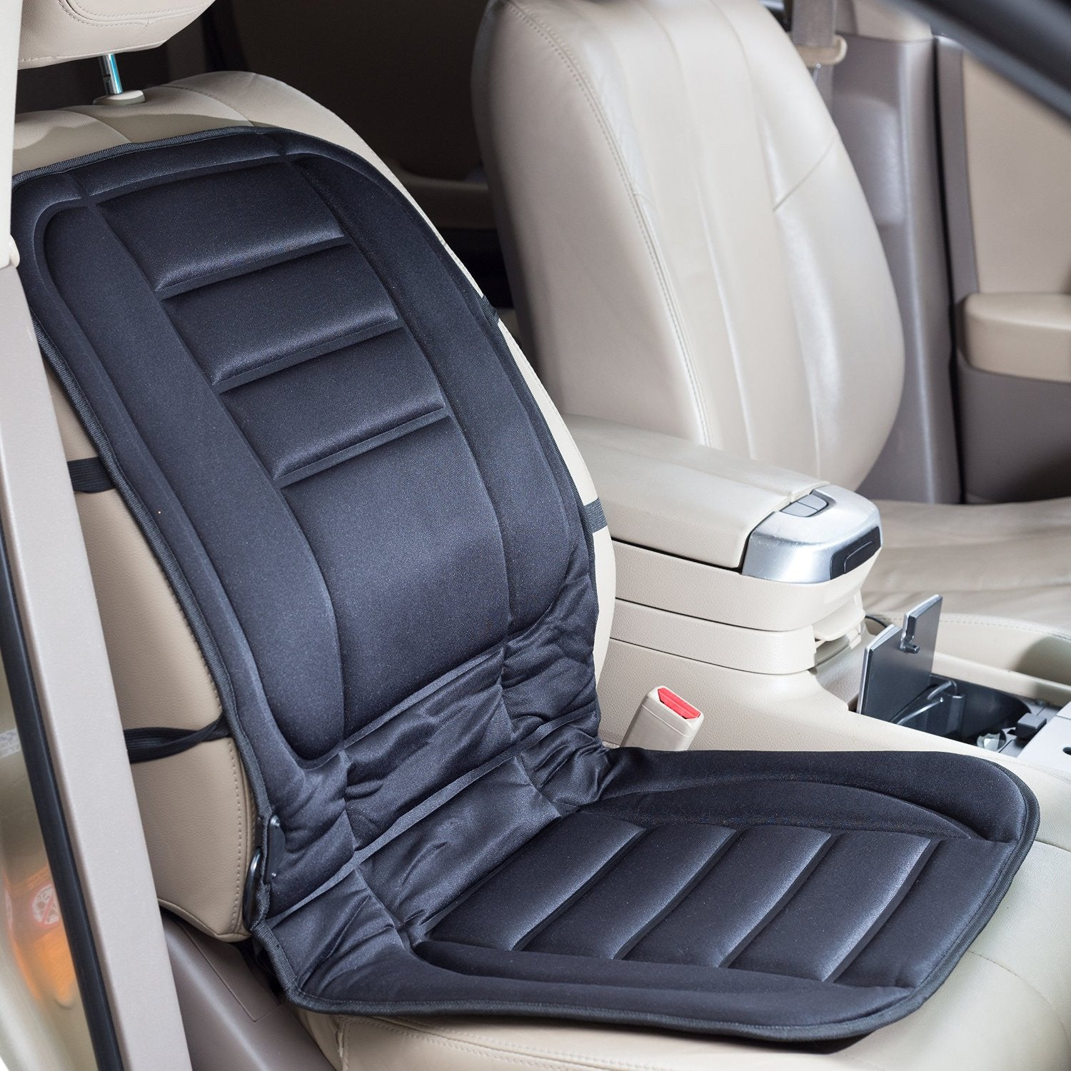 Universal Heated Car Seat Cushion, 12-Volt 3 Way Temperature Control ...