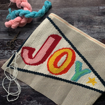 Pennant JOY Tapestry Cross Stitch Kit