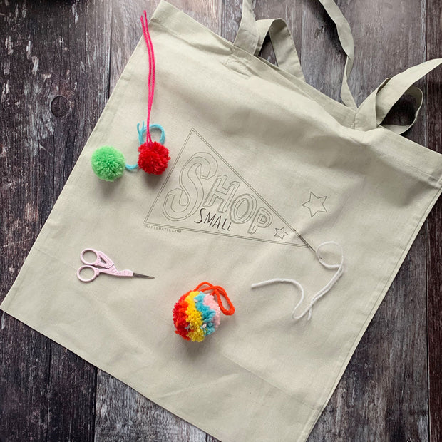 SHOP SMALL #CRAFTYSHOPPER TOTE BAG