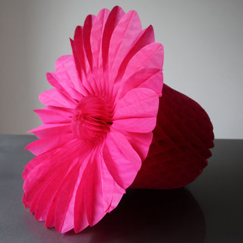 Paper Honeycomb Bell - HOT PINK *SALE*