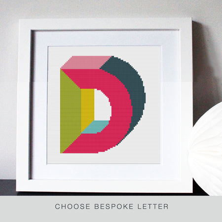 Custom 3D Primary Letter Stitch Kit