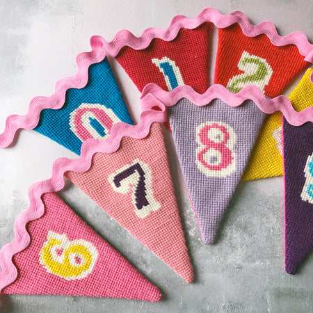 Pennant Number Bunting Cross Stitch Kit