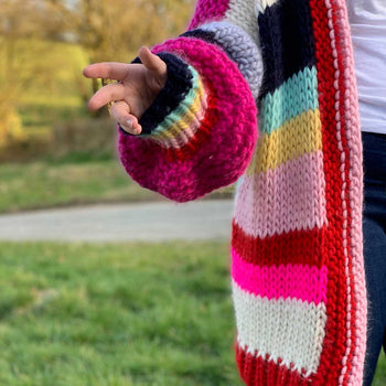 THE DOLLY Long Cardi Yum Yum Merino Knitting Kit *PRE ORDER LTD ED*