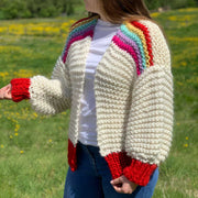 Rainbow Easy Peasy Cardigan Knitting Kit *Limited Edition*