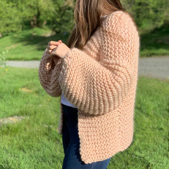 Easy Peasy Beginner Chunky Cardigan Knitting Kit *plus bonus options