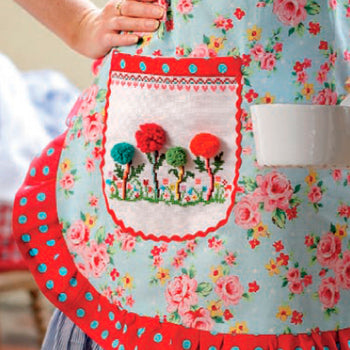 Pom Pom Flower Apron and Teacosy - Cross Stitcher PDF