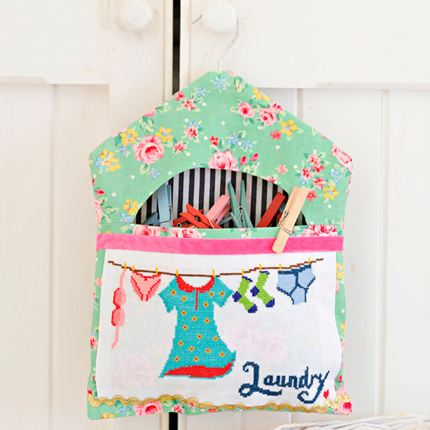 Laundry Line Bag - Cross Stitcher PDF