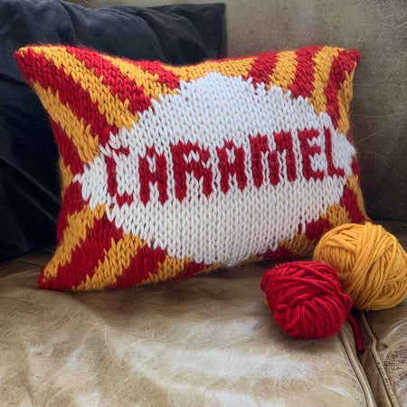 Caramel Cushion Cover Merino DIY Knitting Kit