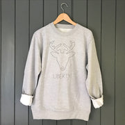 DIY Custom Reindeer Childrens Christmas Sweatshirt