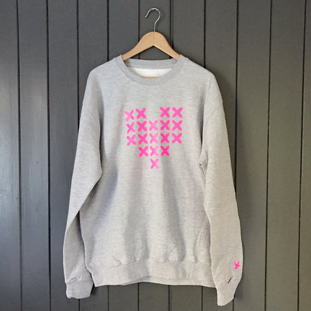 Stitched Heart Neon Boyfriend Fit Slouchy Sweat