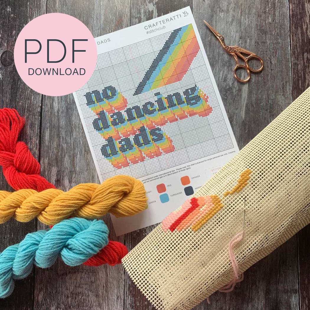 No Dancing Dads PDF Stitch Chart **DOWNLOAD