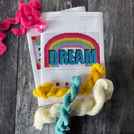 DREAM Rainbow Word Tapestry Cross Stitch Kit