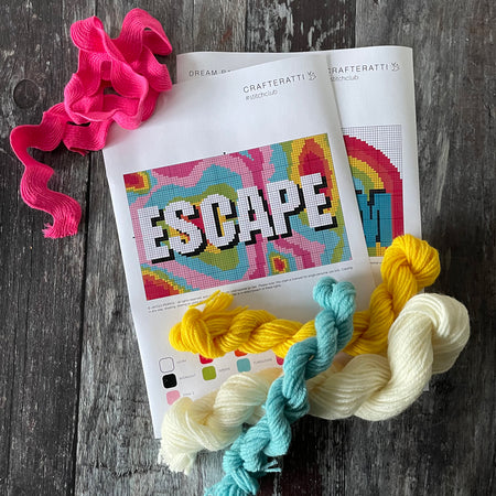 ESCAPE Rainbow Contour  Tapestry Cross Stitch Kit
