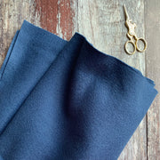 100% British Wool Felt Cut Sizes - Midnight Blue