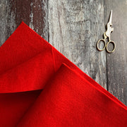 100% British Wool Felt Cut Sizes - Red