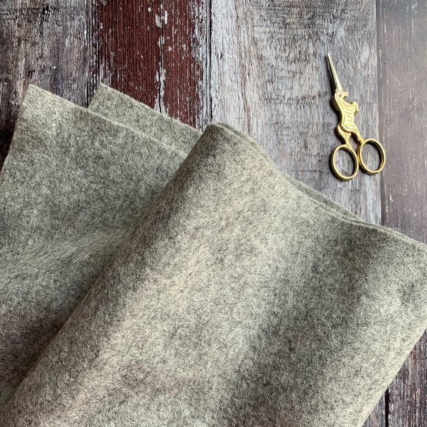 100% British Wool Felt Cut Sizes - Grey Marl