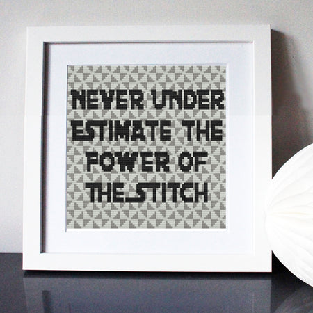 Never Under Estimate the Stitch Star Wars Cross Stitch Kit