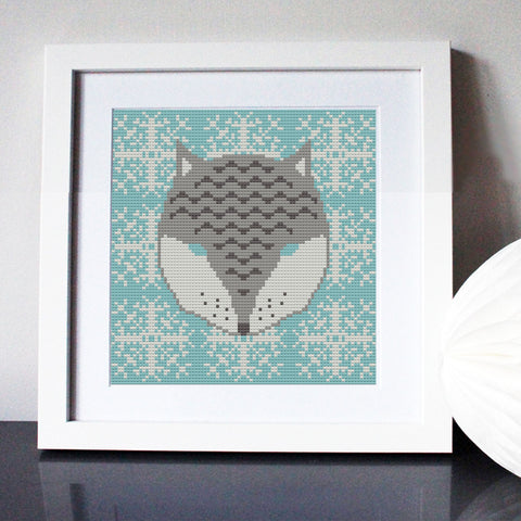 Arctic Fox Cross Stitch Kit