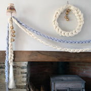 Merino Wool Supersize Garland Hand Knitted 4m - Frost