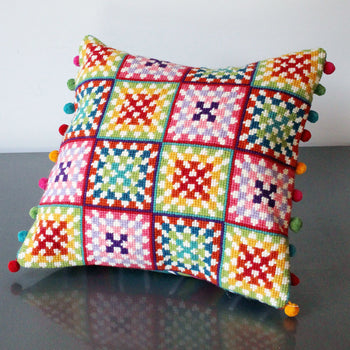 Granny Squares Tapestry Cross Stitch Kit
