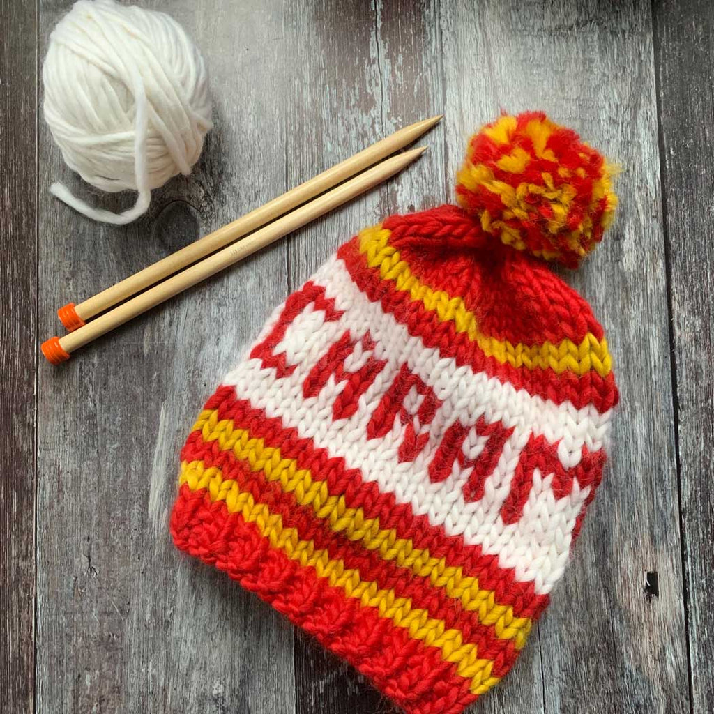 CARAMEL Intarsia Hat DIY Knitting Kit