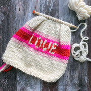 LOVE Rainbow Hat DIY Knitting Kit
