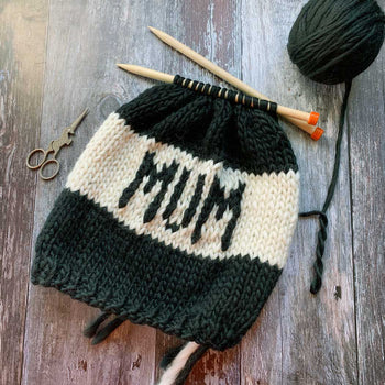MUM Beanie Hat DIY Knitting Kit