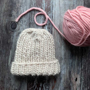 Classic Ribbed Beanie Merino DIY Knitting Kit