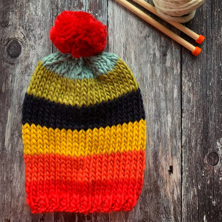 Rainbow Hat DIY Knitting Kit