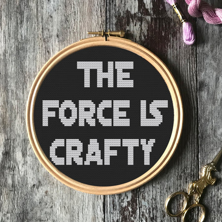 Force Is Crafty Star Wars Cross Stitch -  PDF