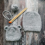 Bertie Bear Beanie Merino DIY Knitting Kit