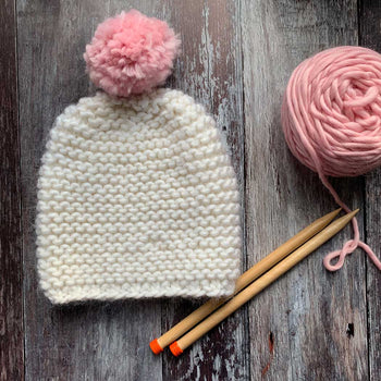 Ripple Beginner Beanie Merino DIY Knitting Kit