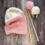 Sloppy Joe Beanie Merino DIY Knitting Kit