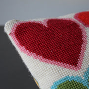 Simple Multi Heart Rainbow Cross Stitch Kit