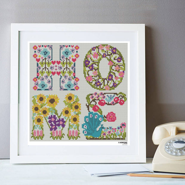 Home Floral Cross Stitch Kit