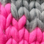 Super Duper Neon Bolt Cushion Merino DIY Knitting Kit