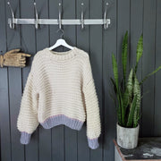 Wave Ribber Jumper Merino DIY Knitting Kit
