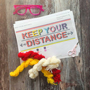 KEEP YOUR DISTANCE Cross Stitch Kit Rainbow *LETTERBOX GIFT KIT*