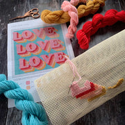 LOVE LOVE LOVE Covid Cross Stitch Kit