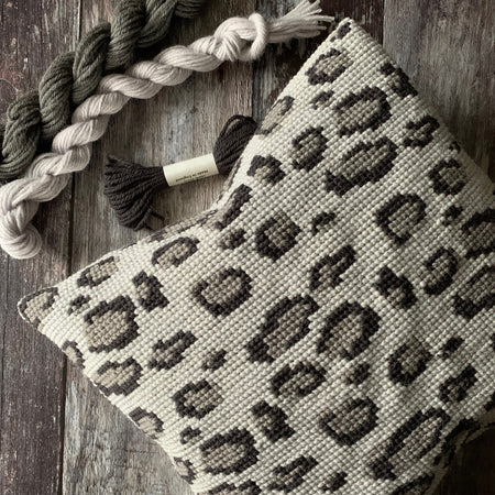 Leopard Simple Cross Stitch Kit GREY