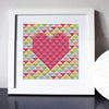 Love Triangle Cross Stitch Kit