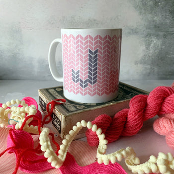 CRAFTY KNIT INITIAL MUG