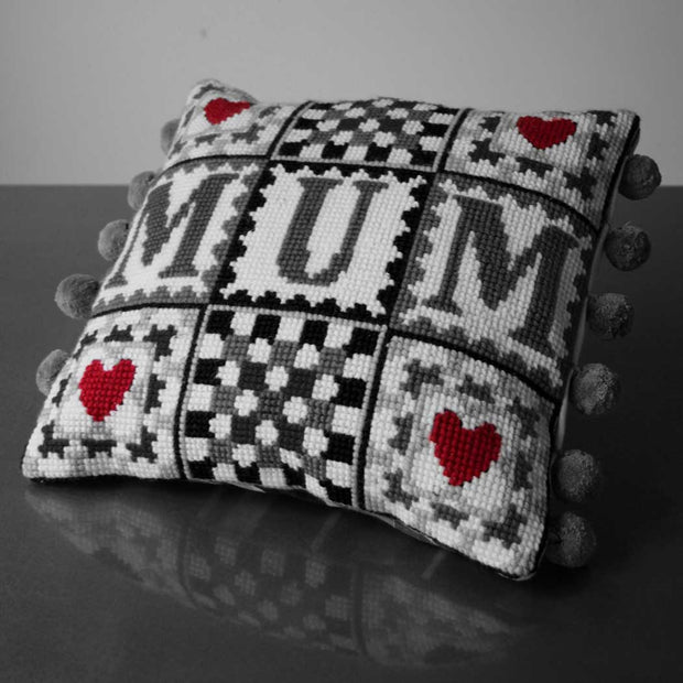MONO **OFFER**  Mum Granny Square Tapestry Cross Stitch Kit