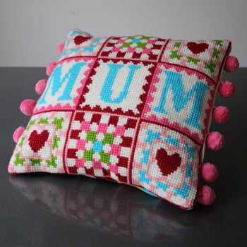 Mum Granny Square Tapestry Cross Stitch Kit